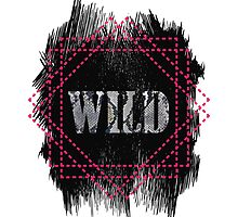 Wild- snake word on black texture by yopixart