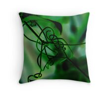 """The Vine and the Web"" Throw Pillow"