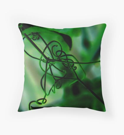 """""""The Vine and the Web"""" Throw Pillow"""