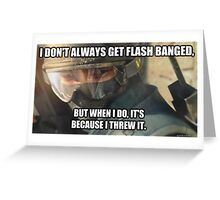 Flash Bangs Greeting Card