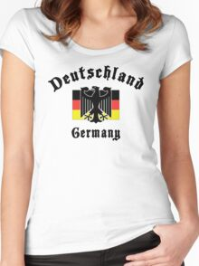 Deutschland Germany Women's Fitted Scoop T-Shirt