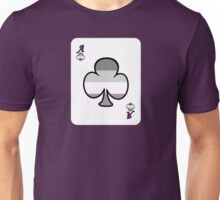 Ace Spectrum Playing Cards: Gray Asexual Unisex T-Shirt