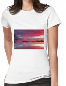 Collie River Sunrise Womens Fitted T-Shirt
