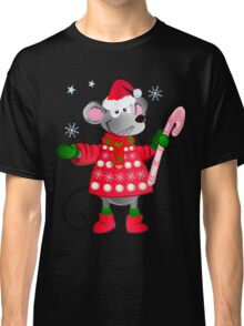 Christmas mouse with candy Classic T-Shirt