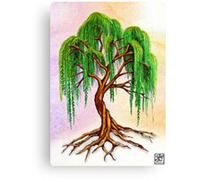 Weeping Tree of Life Canvas Print