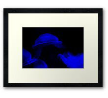 Jellyfish light up the light Framed Print