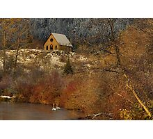 OLD STONE BUTTER CHURCH Photographic Print