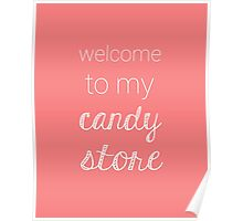 Candy Store-Pink Poster