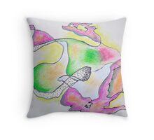 Futurism - Explored in 1990 Throw Pillow