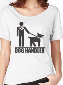Dog Handler K9 Pictogram Women's Relaxed Fit T-Shirt
