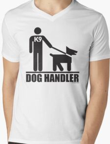 Dog Handler K9 Pictogram Mens V-Neck T-Shirt