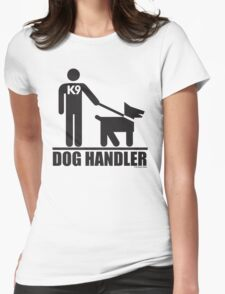 Dog Handler K9 Pictogram Womens Fitted T-Shirt