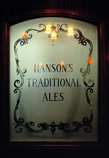 Etched glass door in Midland's pub, England, UK by David A. L. Davies