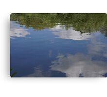 Sky in reflection Canvas Print