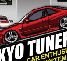 Tokyo tuners - black background Sticker