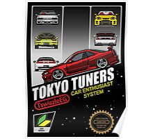 Tokyo tuners - black background Poster
