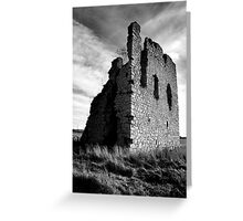 Ruined Castle - Kemnay, Aberdeenshire Greeting Card
