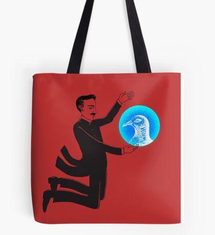 Tesla and the Pigeon Tote Bag