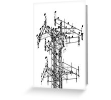 Vulture Tower Greeting Card