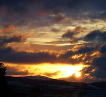 Sunset over the Cambrian Mountains by artfulvistas