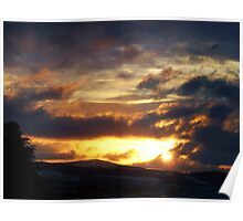 Sunset over the Cambrian Mountains Poster