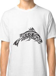 Northwest Native Indian fish totem (horizontal) Classic T-Shirt