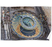 Prague's Astronomical Clock - Prague, Czech Republic Poster