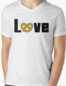 Love Pretzels Mens V-Neck T-Shirt