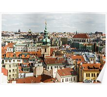 Prague Roof Tops City Scape Poster
