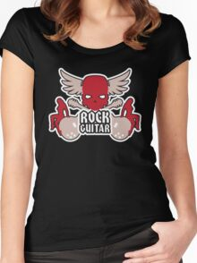 Rock Guitar Red Women's Fitted Scoop T-Shirt