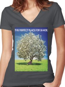 Money Trees is the perfect place for shade Women's Fitted V-Neck T-Shirt