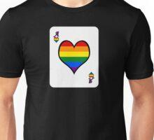Ace Spectrum Playing Cards: Homo-romantic Unisex T-Shirt