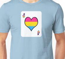 Ace Spectrum Playing Cards: Pan-romantic Unisex T-Shirt