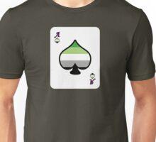 Ace Spectrum Playing Cards: Aromantic Unisex T-Shirt