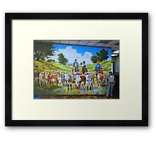Mural in Fort Worth Framed Print