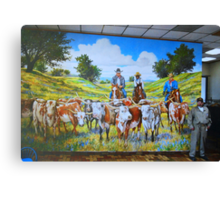 Mural in Fort Worth Canvas Print