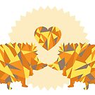 Geometric Hedgehog Friends by forevermelody