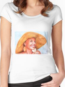 Kylie Minogue - lovely hat 2 Women's Fitted Scoop T-Shirt