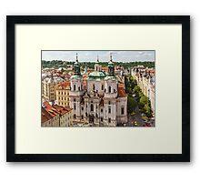 Prague city scape Framed Print
