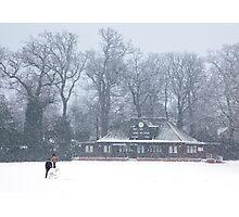 No Cricket Today - winter in Weybridge Photographic Print