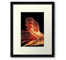 Suburb Christmas Light Series - Xmas A/C Framed Print