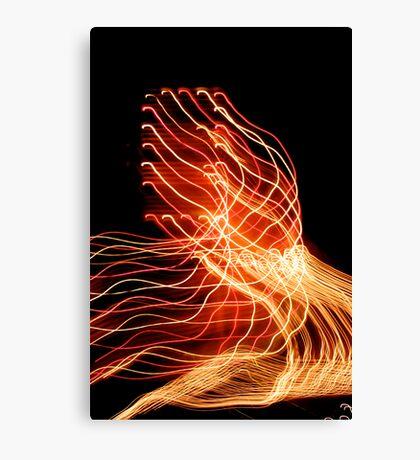 Suburb Christmas Light Series - Xmas A/C Canvas Print