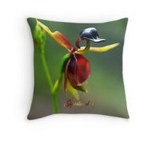 Flying Duck Orchid - Gippsland Throw Pillow
