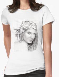 Kylie Minogue - bandana/kerchief  Womens Fitted T-Shirt