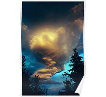 Kluane national park cloud formation Poster