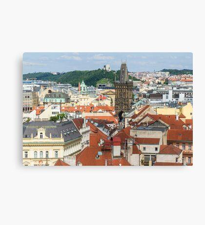 Prague City Scape - Prague, CZ Canvas Print