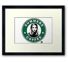 Buffy The Vampire Slayer - Summers Coffee Framed Print