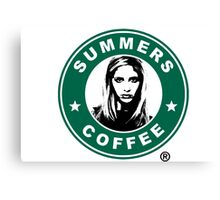 Buffy The Vampire Slayer - Summers Coffee Canvas Print