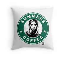 Buffy The Vampire Slayer - Summers Coffee Throw Pillow
