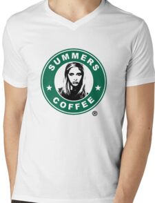 Buffy The Vampire Slayer - Summers Coffee Mens V-Neck T-Shirt